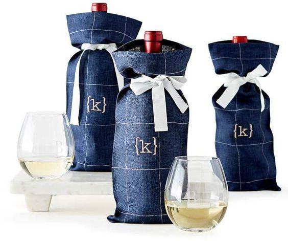 Túi vải đựng rượu cột nơ – TR 013